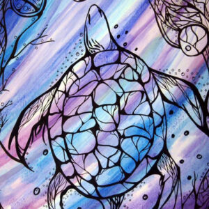 Jaylene Wood, visual art, drawing, Indigenous Artist, First Nations, Indigenous Arts Collective of Canada, Pass The Feather