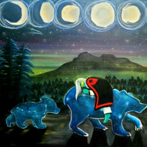 Lindsay Myers, painting, painter, Indigenous Artist, First Nations, Indigenous Arts Collective of Canada, Pass The Feather