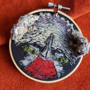 Cassandra McLaughlin, beadwork, textile, digital art, Indigenous Artist, First Nations, Indigenous Arts Collective of Canada, Pass The Feather