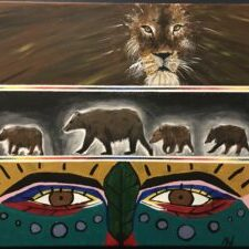 Melba Monias, painter, paintings, Indigenous Artist, First Nations, Indigenous Arts Collective of Canada, Pass The Feather