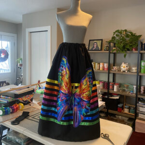 Michelle Goulet, Jewellery, beadwork, leatherwork, quilting, ribbon skirts, Indigenous Artist, First Nations, Indigenous Arts Collective of Canada, Pass The Feather