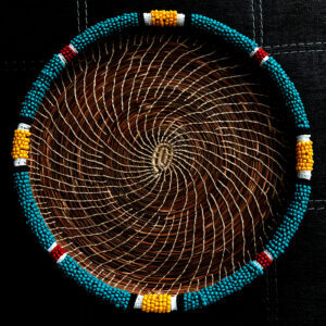 Mia Acker, Beadwork, Pine Needle Basketry, Jewelry, Dreamcatchers, Indigenous Artist, First Nations, Indigenous Arts Collective of Canada, Pass The Feather