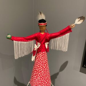 Nancy Potvin, leatherwork, sewing, Indigenous Artist, First Nations, Indigenous Arts Collective of Canada, Pass The Feather