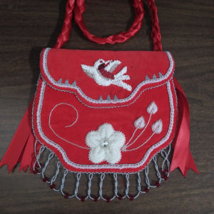 Marlana Thompson, Indigenous artist, beader, bead work, jewellery, moccasins, sewing, regalia, ribbon skirts, first nations, indigenous arts collective of canada, pass the feather.