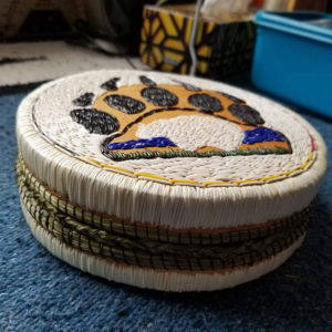 Linda Peterson, basket maker, basketry, beadwork, beader, craft maker, crafts, quilling, quillwork, birch bark, jewelry, jewelry maker, Indigenous Artist, First Nations, Indigenous Arts Collective of Canada, Pass The Feather