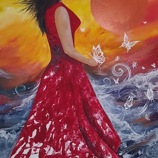 Karen Erickson, Artwork, painting, jewelry, Indigenous Artist, First Nations, Indigenous Arts Collective of Canada, Pass The Feather