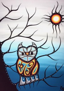 chelsea brooks, pass the feather, painter, first nations art, native art