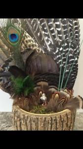 arrangement, pass the feather