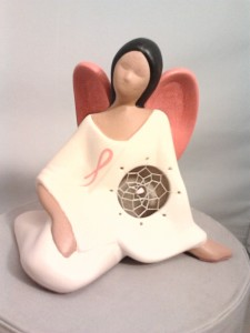 breast-cancer-angel,Millside Ceramics, pass the feather