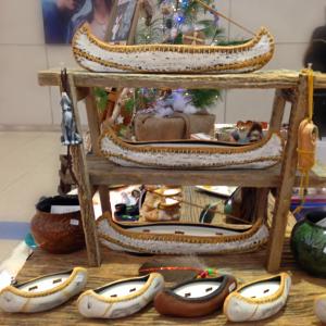 canoe,Millside Ceramics, pass the feather