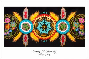 tracey barnaby, pass the feather, indigenous artist, paintings