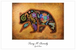 SpiritBear, tracey barnaby, pass the feather, indigenous artist, paintings