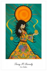 Suncatcher, tracey barnaby, pass the feather, indigenous artist, paintings