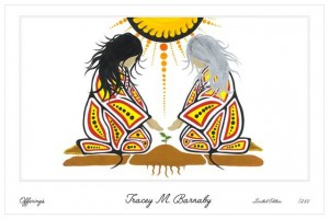 offerings, tracey barnaby, pass the feather, indigenous artist, paintings