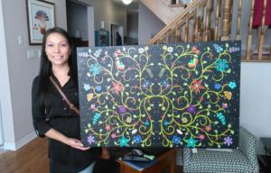 WhitneyWhiteduck, pass the feather, aboriginal arts collective of canada, first nations art directory