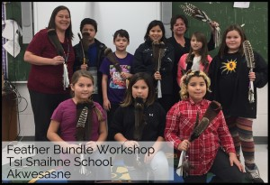 pass the feather, feather bundle workshop, smudge feather workshops, sharing circles, classroom art & Knowledge Exchange, cultural workshops