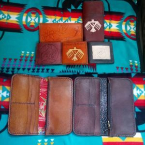 Mitchell Riley, leather wallets, bead work, aboriginal beading, artist, pass the feather, aboriginal arts collective of canada