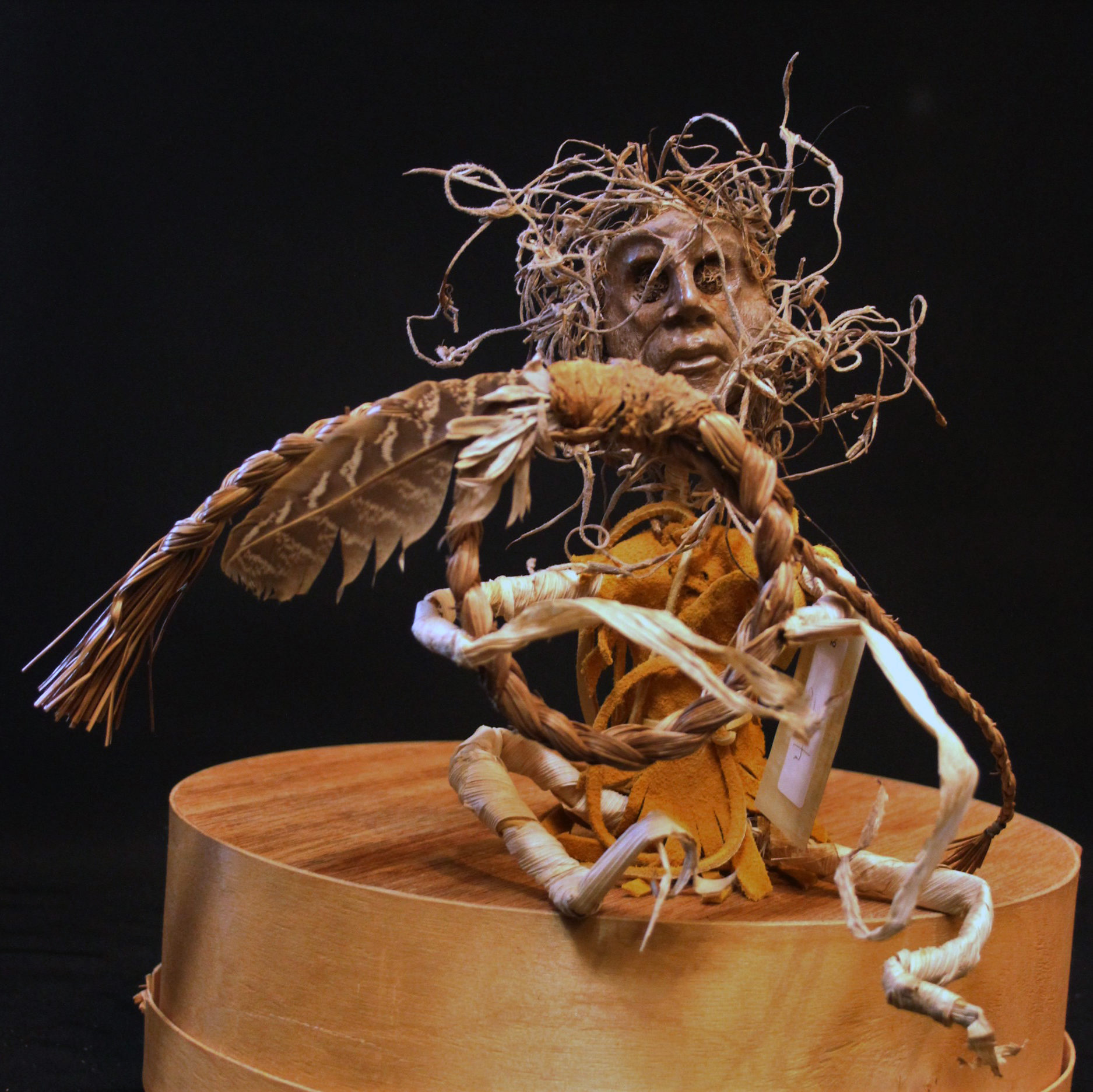 Thomas B. Maracle, artist, stone, wood, antler, corn husk, pass the feather, aboriginal arts and collective