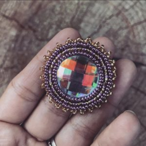 Jennifer LaRue, beadwork, beader, jewelry, jewelry maker, Indigenous Artist, First Nations, Indigenous Arts Collective of Canada, Pass The Feather