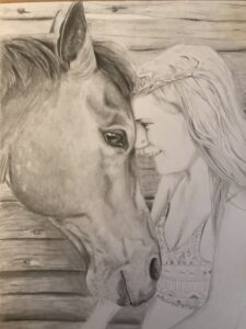 Stacey Rogers, Portraiture, Drawing, pencil, Indigenous Artist, First Nations, Indigenous Arts Collective of Canada, Pass The Feather