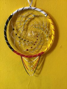 Dale Goulet, beader, beadwork, jewelry, crafts, dreamcatcher, Indigenous Artist, First Nations, Indigenous Arts Collective of Canada, Pass The Feather