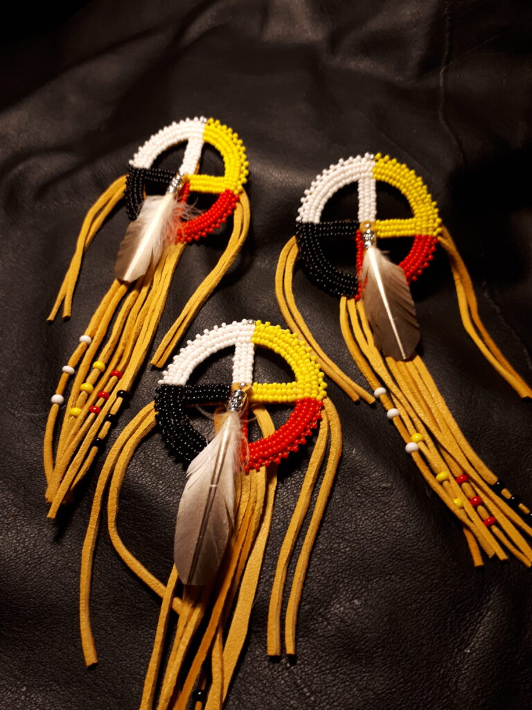 Theresa Burning, beader, beadwork, jewelry, quillwork, quills, Indigenous Artist, First Nations, Indigenous Arts Collective of Canada, Pass The Feather
