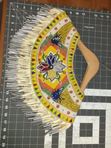 Sharon L'Hirondelle-Whiskeyjack, beader, sewer, regalia, dance, powwow, beadwork, Indigenous Artist, First Nations, Indigenous Arts Collective of Canada, Pass The Feather