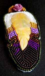 Fran Rogers, leatherwork, beader, beadwork, craft maker, crafts, moccasins, Indigenous Artist, First Nations, Indigenous Arts Collective of Canada, Pass The Feather