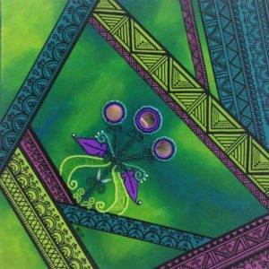 Victoria Ransom, beadwork, beader, drawing, painting, painter, jewelry, jewelry maker, visual arts, pen and ink designs, Indigenous Artist, First Nations, Indigenous Arts Collective of Canada, Pass The Feather