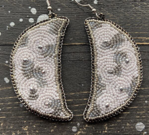 Keri Mitchell, Eastern Fire Designs, beadwork, beader, contemporary, jewelry, stones, Indigenous Artist, First Nations, Indigenous Arts Collective of Canada, Pass The Feather
