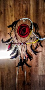 Linda Bogert, beadwork, dreamcatchers, medicine wheels, trees of life, Indigenous Artist, First Nations, Indigenous Arts Collective of Canada, Pass The Feather