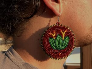 Karakwahawi, Jewelry, moccasins, drawing, ribbon skirts, Indigenous Artist, First Nations, Indigenous Arts Collective of Canada, Pass The Feather