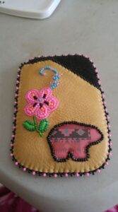 Kim Lamothe, leatherwork, beadwork, sewing, Indigenous Artist, First Nations, Indigenous Arts Collective of Canada, Pass The Feather