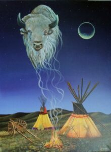 Earl McKay, painter, painting, Indigenous Artist, First Nations, Indigenous Arts Collective of Canada, Pass The Feather