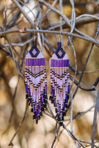 Rosalee Mitchell, beadwork, jewelry, Indigenous Artist, First Nations, Indigenous Arts Collective of Canada, Pass The Feather
