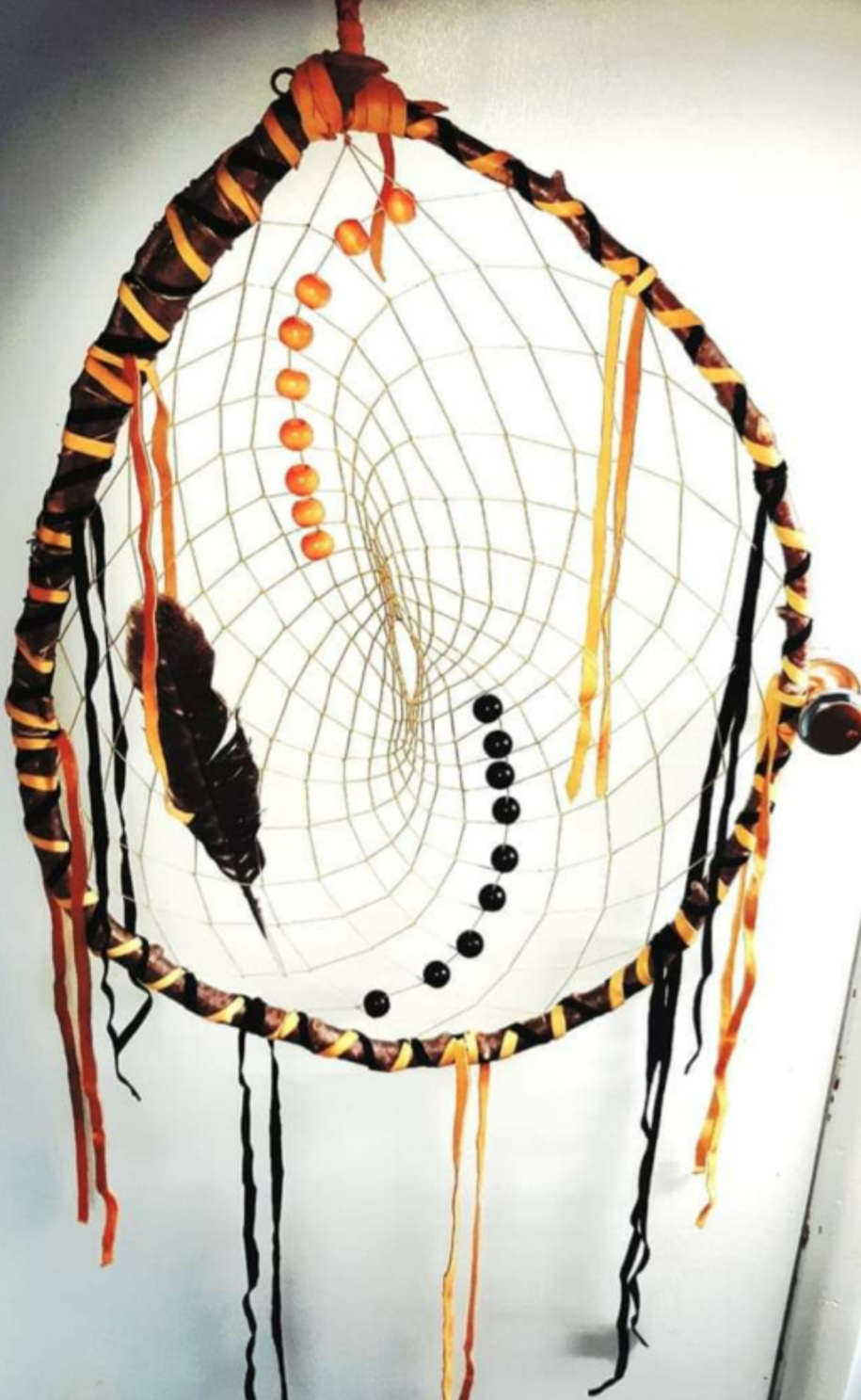 Colleen Moreau, Ribbon skirts, medicine bags, dream catchers, face masks, leather purses, leather bags, book marks, posters, bone necklaces, cards, Indigenous Artist, First Nations, Indigenous Arts Collective of Canada, Pass The Feather