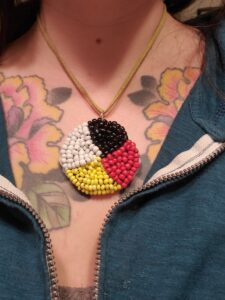 Abigail Harris, Bead work, jewelry, dreamcatchers, crafts, Indigenous Artist, First Nations, Indigenous Arts Collective of Canada, Pass The Feather