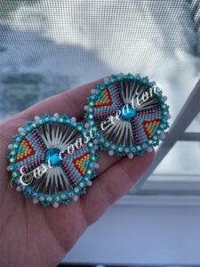 Kineta Snyder, Beadwork, leatherwork, quillwork, Jewelry, moccasins, Indigenous Artist, First Nations, Indigenous Arts Collective of Canada, Pass The Feather
