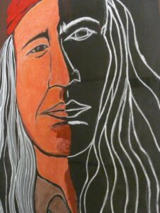 Karen Begay, painting, painter, Indigenous Artist, First Nations, Indigenous Arts Collective of Canada, Pass The Feather