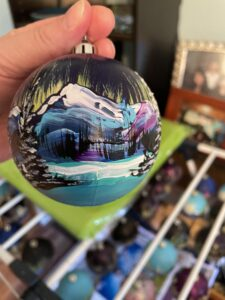Heather Atkinson, crafts, Christmas ornaments, painter, Indigenous Artist, First Nations, Indigenous Arts Collective of Canada, Pass The Feather