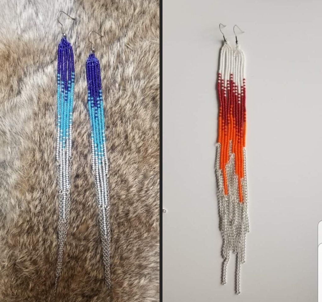 Janice McNutt, beadwork, jewelry, Indigenous Artist, First Nations, Indigenous Arts Collective of Canada, Pass The Feather