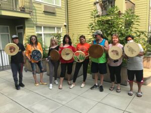 Carol Fraser, drums, workshops, Indigenous Artist, First Nations, Indigenous Arts Collective of Canada, Pass The Feather